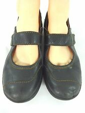BORN WOMENS COMFORTABLE BLACK LEATHER MARY JANES SIZE 8 / 39