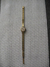 vintage DUGENA LADIES WRIST WATCH - Gold Tone - ART DECO - RUNS - Nice & Petite