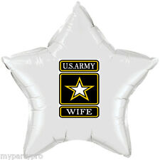 ARMY STRONG WIFE MYLAR BALLOON DECORATIONS Party Supplies FREE SHIPPING