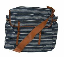 Polo Ralph Lauren RRL Vintage Blue Canvas Leather Messenger Shoulder Bag New