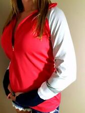 NIKE PRO DRI FIT TIGHT PARTIAL ZIP THUMBHOLE ATHLETIC LONG SLEEVE TOP M
