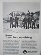 8/72 PUB NORTH AMERICAN ROCKWELL COLUMBUS AIRCRAFT OV-10 BRONCO MARINES ARMY AD