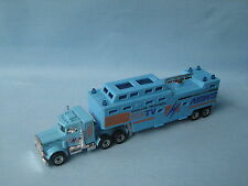 Matchbox Convoy Peterbilt MBTV Satallite TV News Light Blue UB
