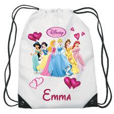 Disney Principesse Cordino Nuoto, Scuola, sacca personalizzata Per Bambine
