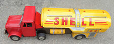 old Shell tin friction Mighty Gasoline Truck toy Japan mint in box