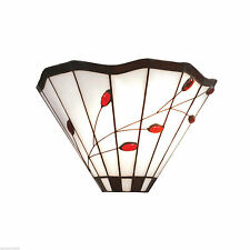 *SALE PRICE* TIFFANY Stained-glass Wall Light - RUBY LEAF MT20W
