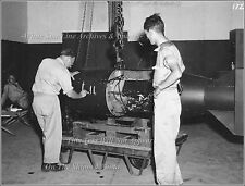 Photo: Atomic Bomb Little Boy Being Prepared For B29 Bomber Enola Gay, 1945