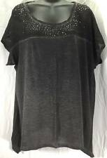 DKNY Jeans Womens Blouse Top Size Large Grey New 8673