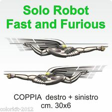 Fast and Furious robot gueriero Supra cm.30x6 - in coppia  - By Colorkit