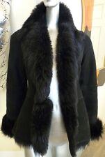 $2K Cole Haan Italy Toscana Lamb Sheepskin Shearling Spanish Merino Fur Coat XS