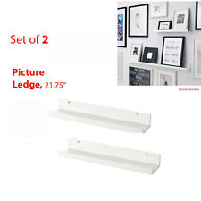 "IKEA Picture Ledge 22"" Wall Shelves 2-Pk MOSSLANDA White Rack Books RIBBA Frames"