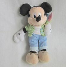Disney Store Spring Mickey Mouse Flowers Plush Soft Toy Bean Bag 10""
