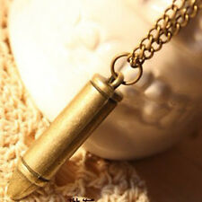 Women Personality Bullet Retro Long Chain Sweater Chain Necklace Pendant Gift
