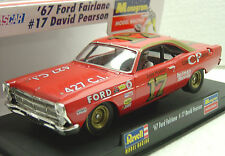 REVELL MONOGRAM 4828 67' FORD FAIRLANE PEARSON 1/32 SLOT CAR IN DISPLAY CASE