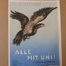 art cover  ALLE MIT UNS ! Carl Robrecht, eagle