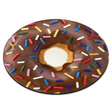 Doughnut Sprinkles Chocolate Food Funny Gift PC Computer Mouse Mat Pad
