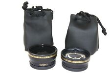2 Lens Kit Hi Def Wide Angle & Telephoto Set for Panasonic Lumix DMC-G5 DMC-G5K