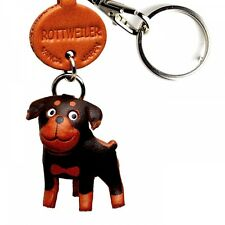 Rottweiler Handmade 3D Leather Dog Keychain *VANCA* Keyring Made in Japan #56776