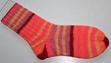Socken, Damensocken, Wollsocken, selbstgestrickt, neonfarbig rosa, Grösse 36/37