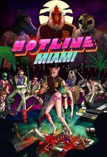 "Hotline Miami Game poster 36"" x 24"" Decor 05"