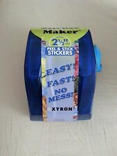 "Xyron 2.5"" wide sticker maker"