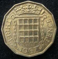 Great Britain United Kingdom 3 Pence   1967 BU