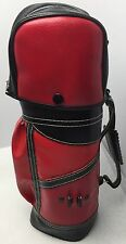 Vintage Red & Black Mini Golf Club Bag Bar Cocktail Golfer Man Cave Hong Kong