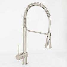 NEW Euro Modern Pull Down Spray Brushed Nickel Kitchen Sink Faucet Single Handle