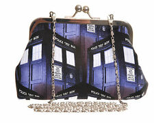 DR WHO TARDIS TUMBLING BLOCK PRINT EVENING HANDBAG alternative prom geek gift