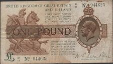 Great Britain 1 Pound 1919  P 357 Series A1/11  Circulated Banknote
