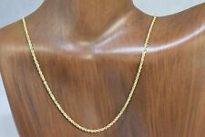 1.5 mm Solid Cast Heavy 14k Real Yellow Gold 18 in Rope Chain