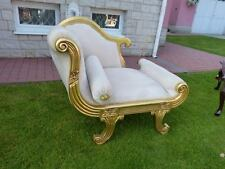 FRANCE BAROQUE STYLE  CHAISE LONGUE GOLD / BEIGE