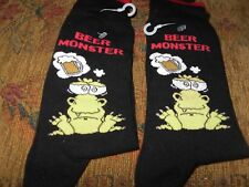 2 PAIR'S MEN'S NOVELTY BEER MONSTER SOCKS SIZE 6-9 FUN BIRTHDAY VALENTINE GIFT