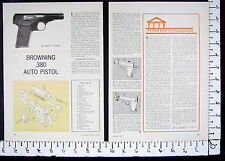 1963 BROWNING 380 ACP cal Automatic Pistol EXPLODED VIEWS Magazine Article 4251