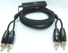 Audioquest Mini-7 48V DBS RCA Audio Interconnect Cables 3 meter Pair