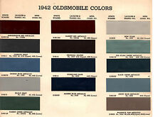 1942 OLDSMOBILE SERIES 60 SERIES 70 42 PAINT CHIPS ARCO