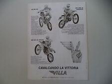 advertising Pubblicità 1982 MOTO VILLA 125 MC/250 MC CROSS/250 SME ARGENTA