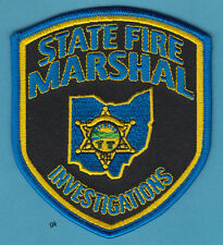 OHIO STATE FIRE MARSHAL ARSON  INVESTIGATIONS  POLICE SHOULDER PATCH