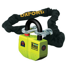Oxford Boss Alarm Motorcycle Motorbike Ultra Strong Alarm Chain Lock - 2.0mtr