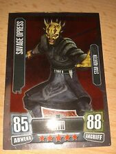 Force Attax Star Wars Serie 2 Star-Karte Nr.208 Savage Opress Sammelkarte