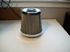 """SPECTRE Stainless Mesh Cone Cold Air Intake Filter 3"""" 3.5"""" 4"""" Chevy Ford Mopars"""