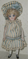 Antique All Bisque German Or French Mignonette Doll - Swivel Neck - All Original