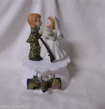 Wedding Reception Party ~Deer Hunter~ Camo Camouflage Groom Hunting Cake Topper