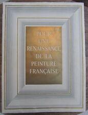 POUR UNE RENAISSANCE DE LA PEINTURE FRANÇAISE 1946 ILLUSTRATION