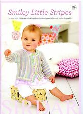 Smiley Little Stripes Sirdar Knitting Pattern Book 403 -13 designs Baby Boy Girl
