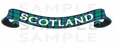 Large Printed Scotland Tartan Scroll Exterior sticker, Truck Car Van