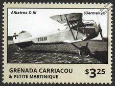 WWI ALBATROS D.III German Luftstreitkräfte Biplane Fighter Aircraft Stamp