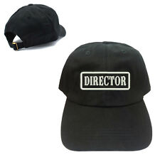DIRECTOR UNSTRUCTURED 100% COTTON CAP HAT BUCKLE BACK CLOSURE