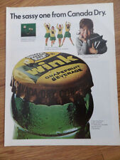 1966 Wink Soda Pop Ad  The Sassy one from Canada Dry