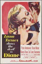 DIANE - Lana Turner -  original film / movie poster poster